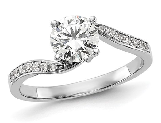 2/3 Carat (ctw G-H-I, SI1-SI2) Lab Grown Diamond Engagement Ring in 14K White Gold