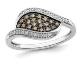 1/6 Carat (ctw) Champagne Diamond Fashion Ring in Sterling Silver