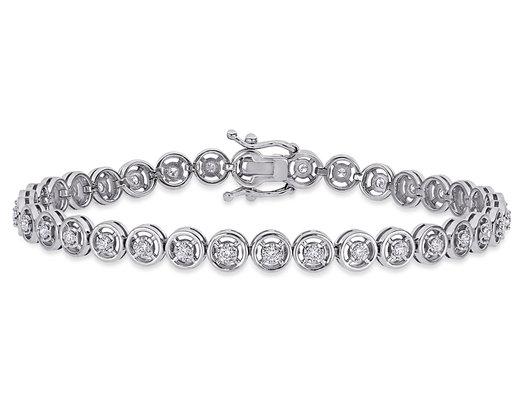 5/8 Carat (ctw SI1-SI2, H-I) Diamond Tennis Bracelet in 14K White Gold7 Inches)