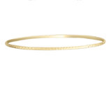 Diamond Cut 2mm Slip On Bangle in 14K Yellow Gold