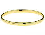 High Polish 4.5mm Hinged Bangle in 14K Yellow Gold