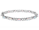 2.50 Carat (ctw) Lab-Created Opal Bracelet in Sterling Silver