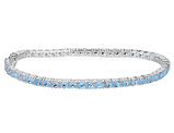 5.50 Carat (ctw) Blue Topaz Bracelet in Sterling Silver (7 Inches)