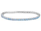 Blue Topaz Bracelet 5.7 Carat in Sterling Silver