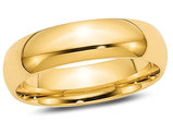 Men's or Ladies 14K Yellow Gold 6mm Comfort Fit Wedding Band