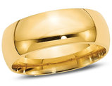 Men's 14K Yellow Gold 8mm Comfort Fit Wedding Band
