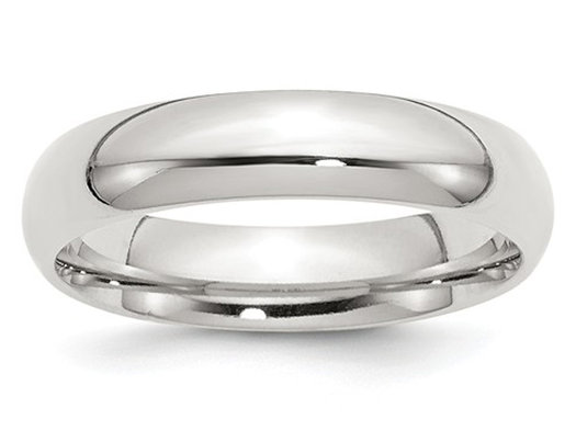 Ladies Comfort Fit 5mm Wedding Band in Sterling Silver