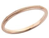 Ladies 1.5mm Stackable Milgrain Wedding Band in 14K Rose Gold
