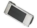 Men's Stainless Steel Black Carbon Fiber Money Clip