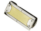 Men's Stainless Steel Money Clip with 24K Gold