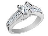1/2 Carat (ctw) Princess Cut Diamond Engagement Ring in 14K White Gold