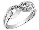 Infinity Diamond Promise Ring in 10K White Gold