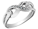Infinity Promise Ring in 10K White Gold with Diamond Accent