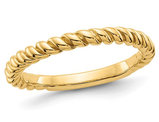 Ladies Twisted Wedding Band in 14K Yellow Gold
