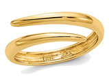 14K Yellow Gold Polished Bypass Ring Band