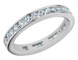 1.00 Carat (ctw) Anniversary Ring in 14K White Gold Eternity Diamond Wedding Band