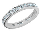 1.00 Carat (ctw) Anniversary Ring in 14K White Gold Eternity Diamond Wedding Band