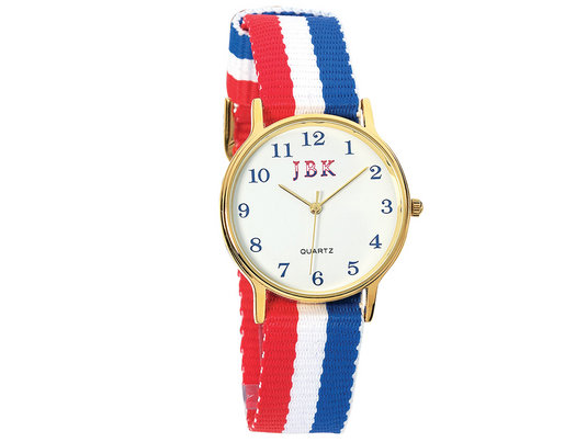 American Flag Watch with 24K Gold Accent Jacqueline Kennedy Collection