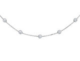 Synthetic Cubic Zirconia Necklace in Sterling Silver